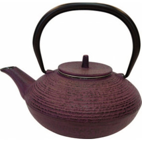 Théière fonte émaillée - violet - 0,7l