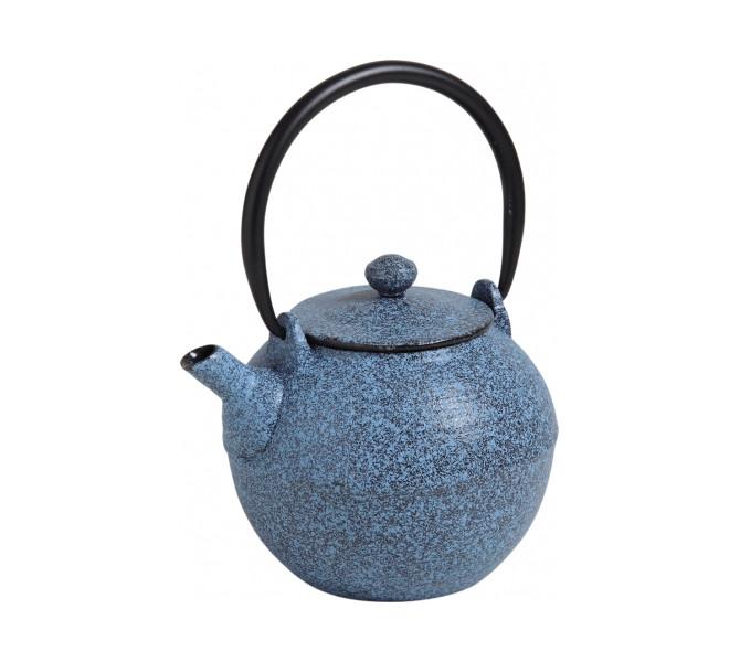 Théière fonte émaillée - bleu jean - 0.6l