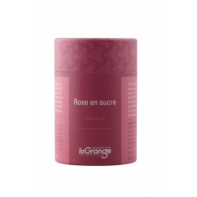 Boite cylindrique - 5x60g - Infusion - Rose en sucre