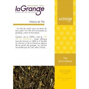 Boite sachet - 6x24 sachets - Thé vert citron ginseng- Thé de la chance Bio