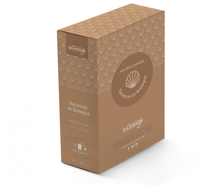 Boite sachet - 6x24 sachets - Rooibos caramel - Vacances en Bretagne