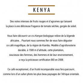 Café Kenya BIO - Safari - MOF