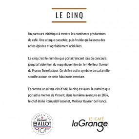 Café grain - LE CINQ - 5 sachets de 800g