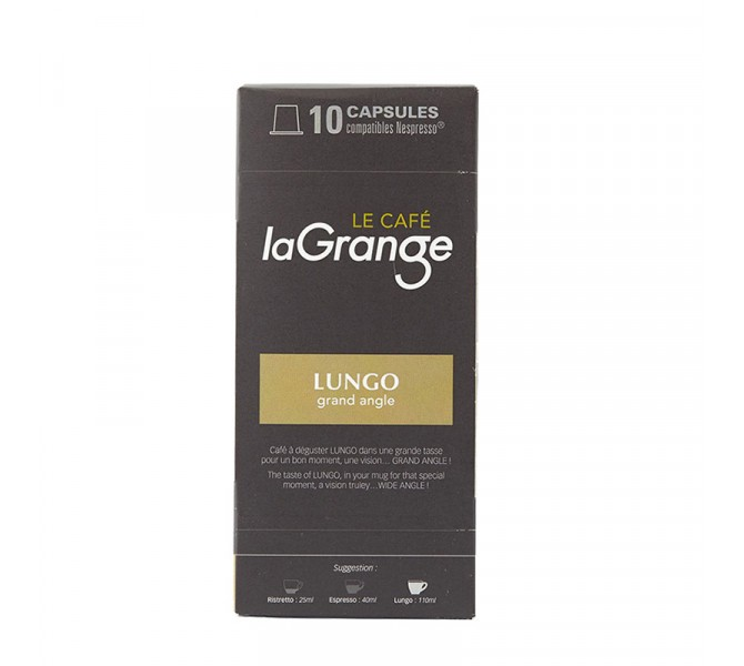 LUNGO GRAND ANGLE - Capsule café laGrange - boite de 10 - carton de 12 boites