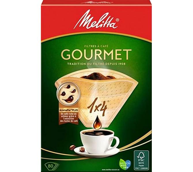 Melitta - 80 filtres à café 1x4 Gourmet