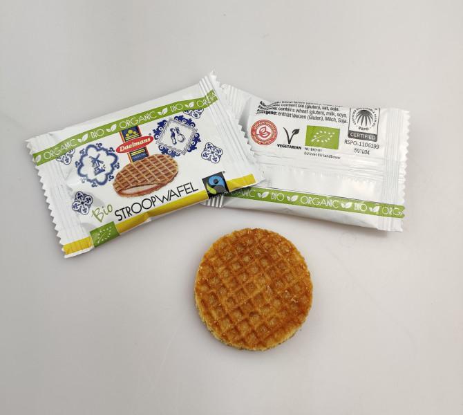 Daelmans Mini gaufres fourrées goût caramel bio- carton de 1200g soit 150 pièces
