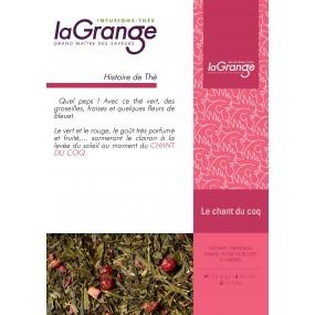 Boite sachet - 6x24 sachets -  Thé vert fruits rouges - Le chant du coq