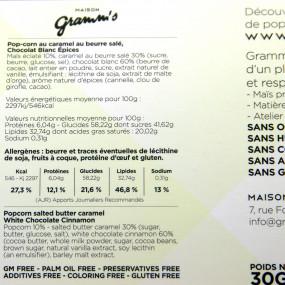 Gramm's - The French Pop-corn - chocolat blanc épices
