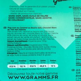 GRAMM'S - The French Pop-Corn - Thé vert matcha